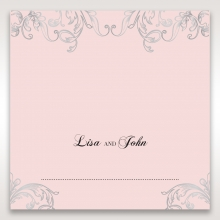 Silvery Charisma wedding stationery place card