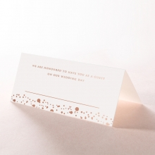 Star Dust wedding reception place card stationery design