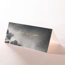 Under the Stars wedding stationery table place card design