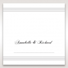 Unique Grey Pocket with Regal Stamp reception table place card design