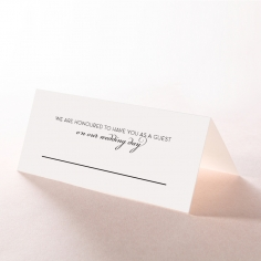 United as One wedding venue table place card stationery item