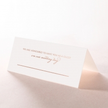 United as One wedding place card stationery