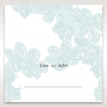 Vibrant Flowers wedding reception table place card design