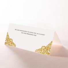Vintage Prestige with Foil wedding venue table place card stationery design