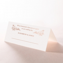 Whimsical Garland wedding stationery place card design
