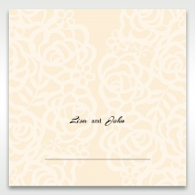 Wild Laser cut Flowers place card stationery item