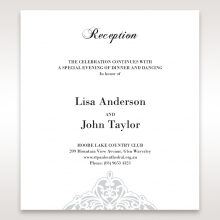 An Elegant Beginning reception enclosure stationery invite card