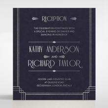 Art Deco Allure wedding reception enclosure card design
