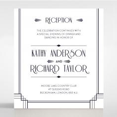 Art Deco Allure wedding reception card