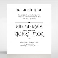 Art Deco Romance reception stationery invite card design