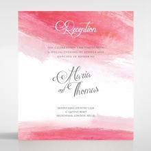 At Sunset wedding reception card design
