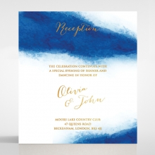 At Twilight  with Foil wedding stationery reception card