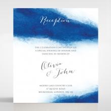 At Twilight wedding reception invitation card design