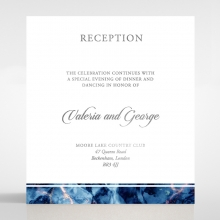 Azure  with Foil wedding reception enclosure invite card
