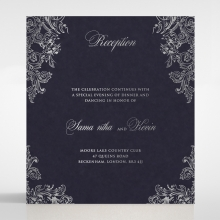Baroque Romance wedding reception enclosure card design