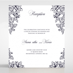 Baroque Romance wedding reception invite