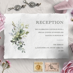 Beautiful Devotion reception stationery card