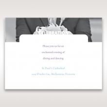 Beautiful Romance wedding reception invite card