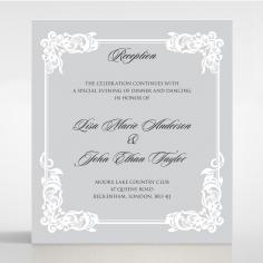 Black Divine Damask reception enclosure invite card