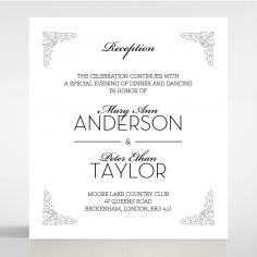 Black on Black Victorian Luxe reception wedding card design