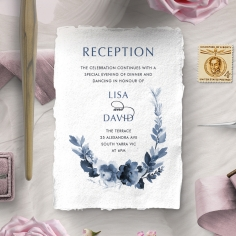 Blissful Union reception enclosure stationery invite card design