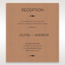 Blissfully Rustic  Laser Cut Wrap reception invite