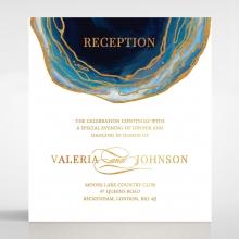 Blue Aurora wedding stationery reception card design