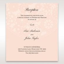 Blush Blooms wedding reception invite