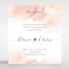 Blushing Rouge reception stationery card design