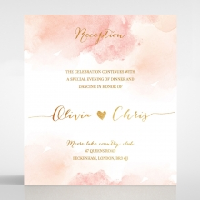 Blushing Rouge with Foil reception stationery card