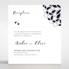Bohemia reception enclosure invite card design