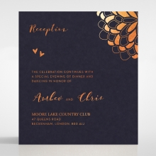 Bohemia reception enclosure stationery invite card design