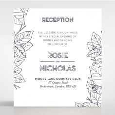 Botanical Canopy reception wedding invite card design