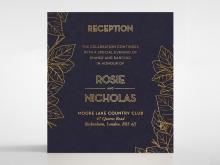 Botanical Canopy reception invitation card design