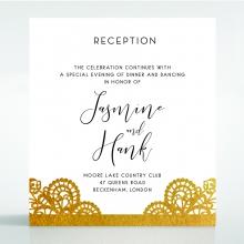 Breathtaking Baroque Foil Laser Cut reception wedding card