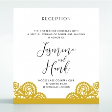 Breathtaking Baroque Foil Laser Cut Reception Wedding Card Design