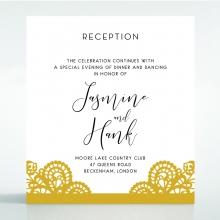 Breathtaking Baroque Foil Laser Cut reception wedding card design
