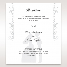 Bridal Romance wedding reception invite card design