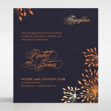 Bursting Bloom wedding stationery reception invite card design