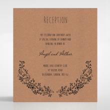 Charming Garland wedding reception card design