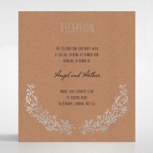 Charming Garland wedding reception invitation