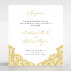 Charming Lace Frame reception enclosure stationery card