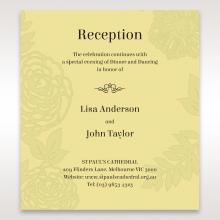 Charming Laser cut Garden reception stationery card