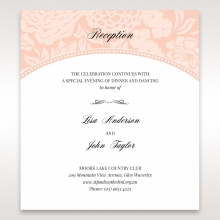 Classic Laser Cut Floral Pocket wedding reception enclosure invite card design