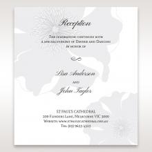 Classic Shimmering Flower wedding reception invitation card