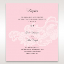 Classic White Laser Cut Floral Pocket reception wedding invite card design