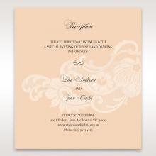 Classic White Laser Cut Sleeve reception invitation