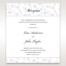 Contemporary Celebration reception stationery invite
