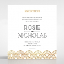 Contemporary Glamour wedding stationery reception enclosure invite card