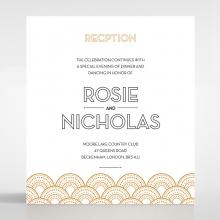 Contemporary Glamour wedding stationery reception enclosure invite card design
